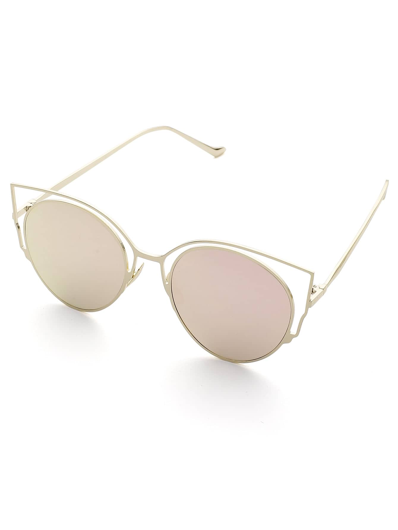 Flat Lens Cat Eye Sunglasses