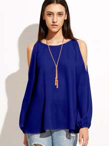 Open Shoulder Raglan Sleeve Top