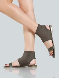 Lycra Stretch Open Toe Sandals OLIVE