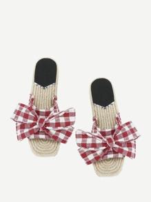 Sandales à carreaux