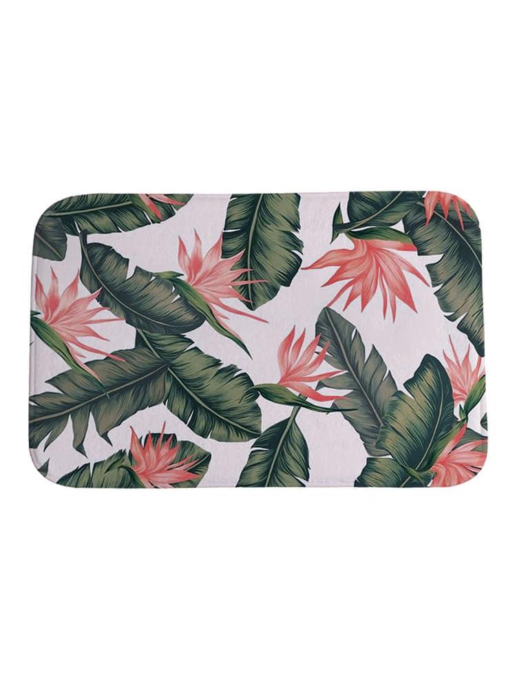 Фото Flower And Leaf Print Carpet. Купить с доставкой