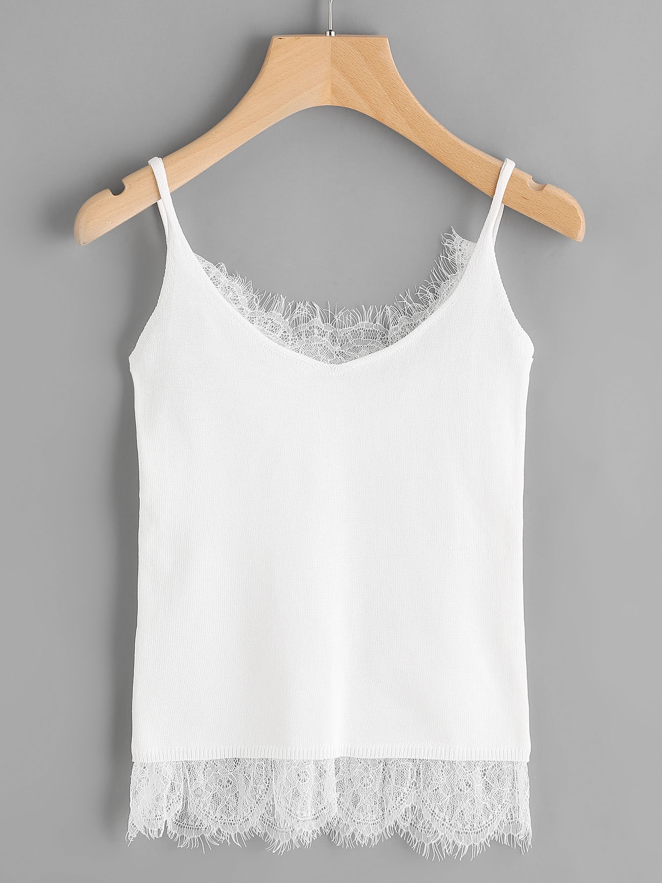 Eyelash Lace Trim Cami Top hamlet