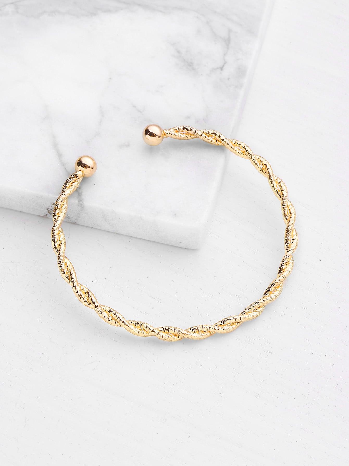Plated Woven Design Bracelet