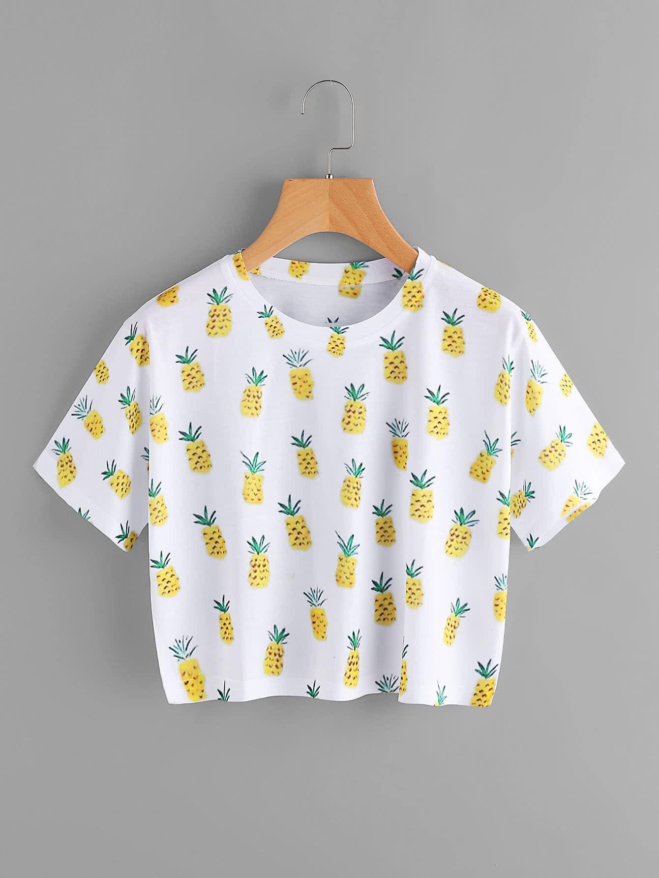 Фото Pineapple Print Tee. Купить с доставкой