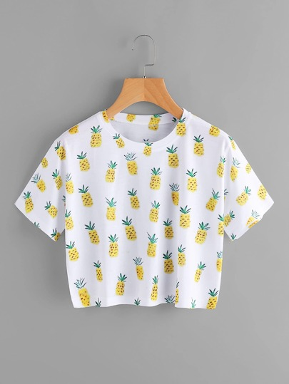 T-shirt con stampa ananas