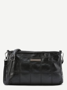 Metal Detail PU Shoulder Bag