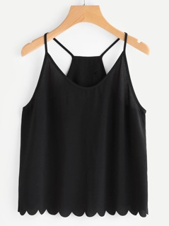 Overlap Back Scallop Edge Cami Top
