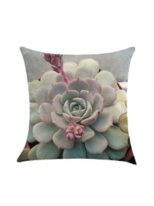 Succulents Print Pillowcase Cover