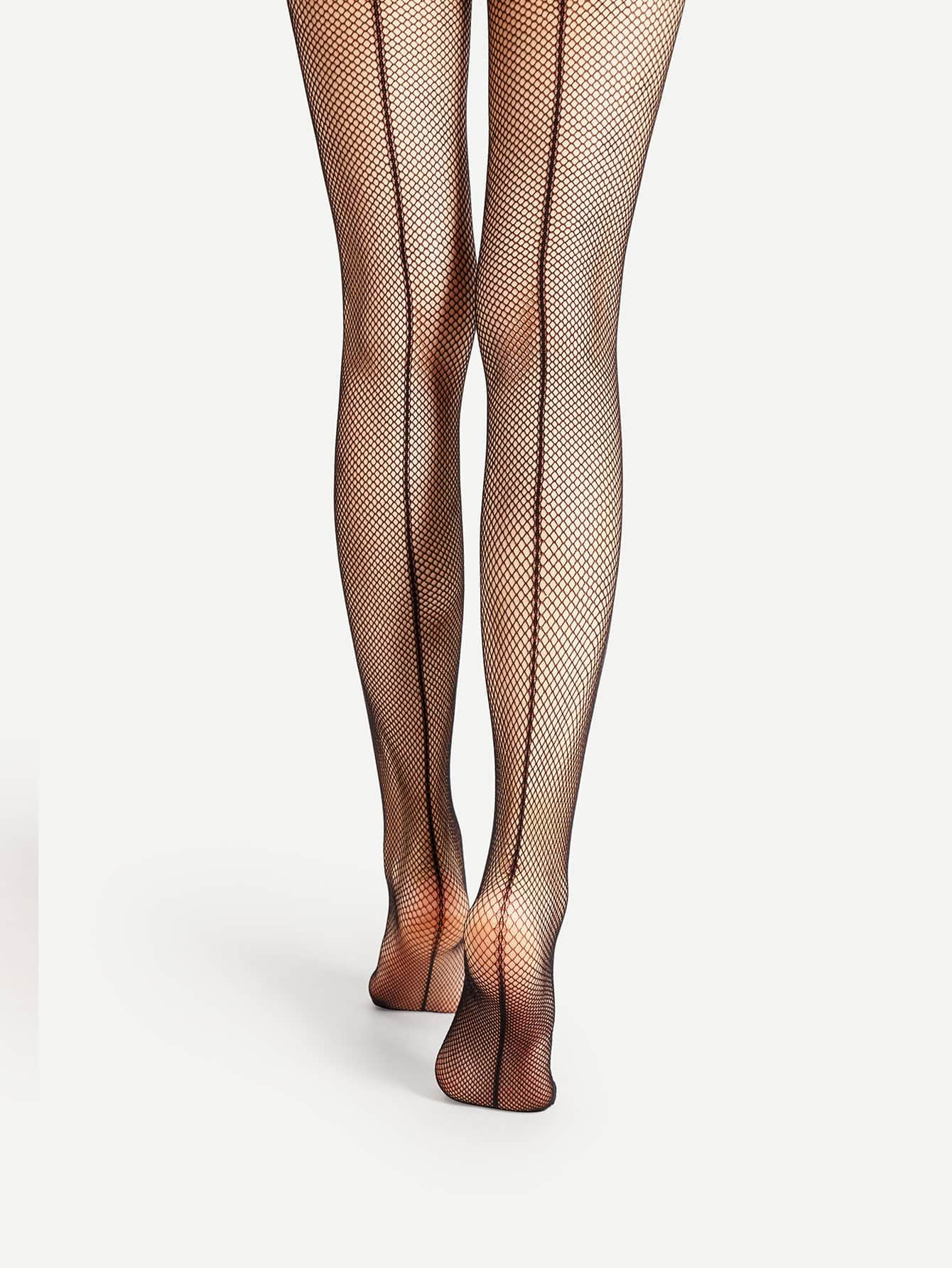 Back Seam Fishnet Tights платье seam seam mp002xw18uic