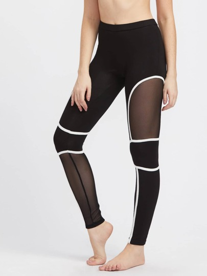 Leggins de malla con panel