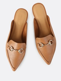 Backless Point Loafers TAN