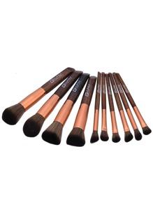 Wood Handle Makeup Brush 10pcs