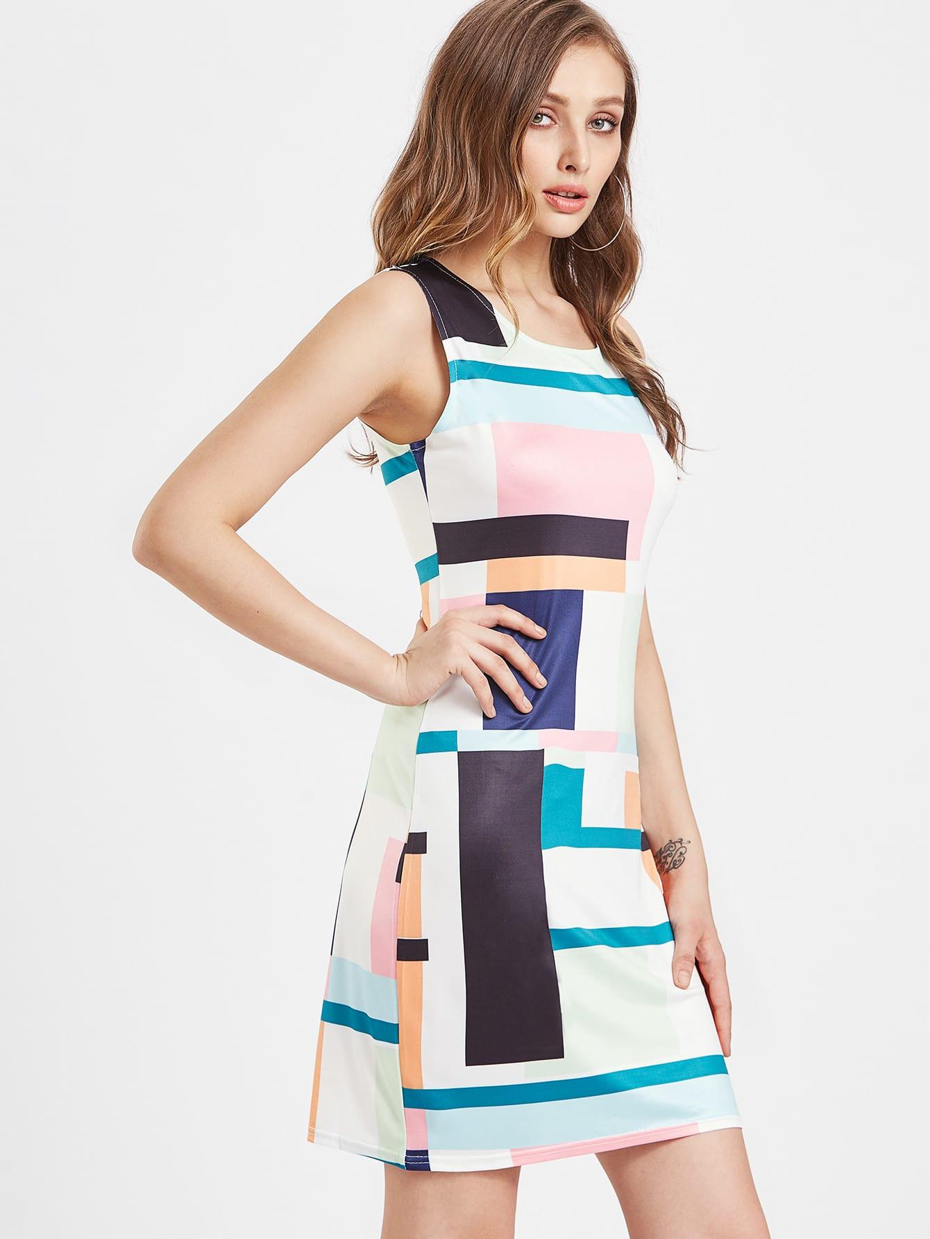 Фото Patchwork Tank Dress. Купить с доставкой