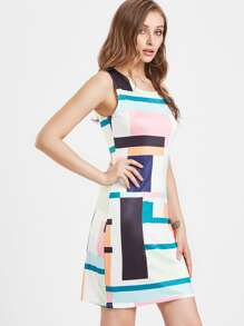 Patchwork Tank Dress
