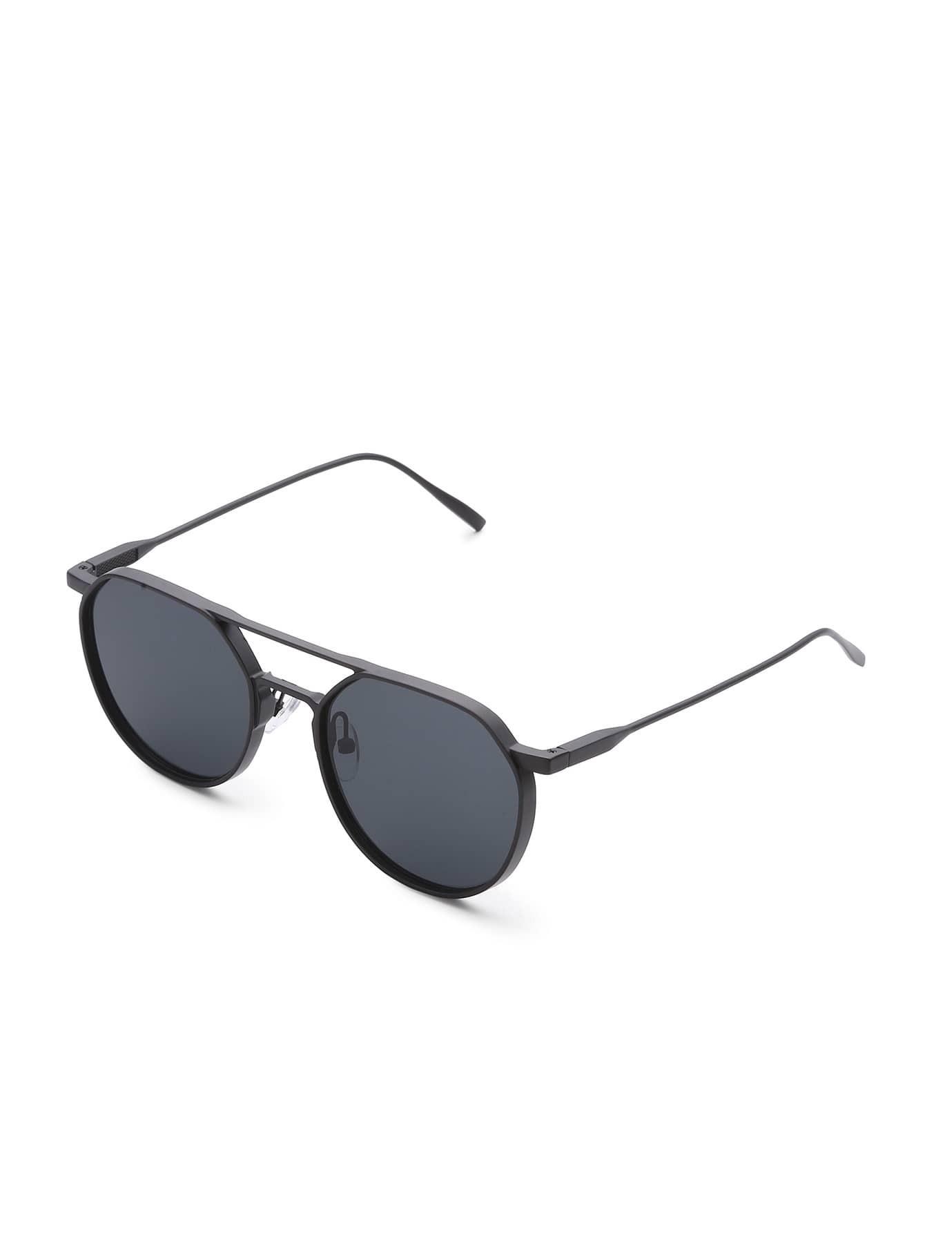 Фото Double Bridge Flat Lens Sunglasses. Купить с доставкой
