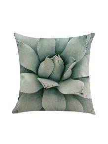 Plant Leaf Print Pillowcase Cover