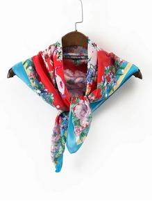 Quadrat Schal mit Blumenmuster