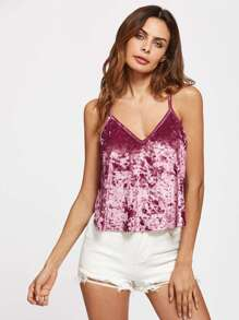 Top camisole in velluto
