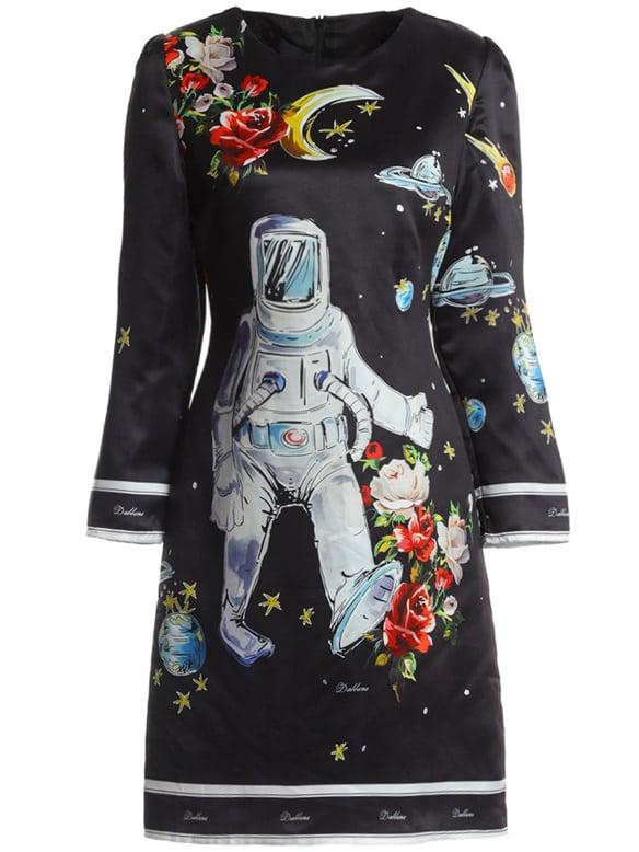 Фото Astronaut Print Sheath Dress. Купить с доставкой