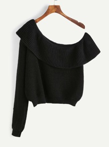 Flounce One Shoulder Jumper