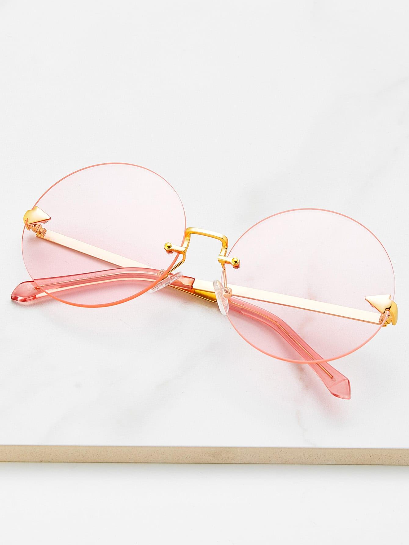 Фото Round Lens Rimless Sunglasses. Купить с доставкой