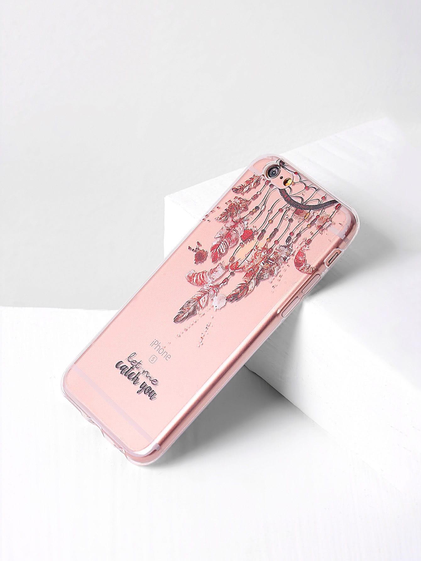 Купить Модный чехол для iPhone 7 с принтом, null, SheIn
