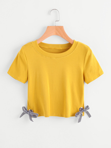 Ring Bow Tie Detail Tee