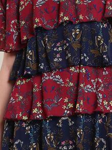 Off Shoulder Layered Botanical Dress pictures