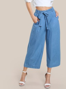 High Rise Denim Pants LIGHT BLUE