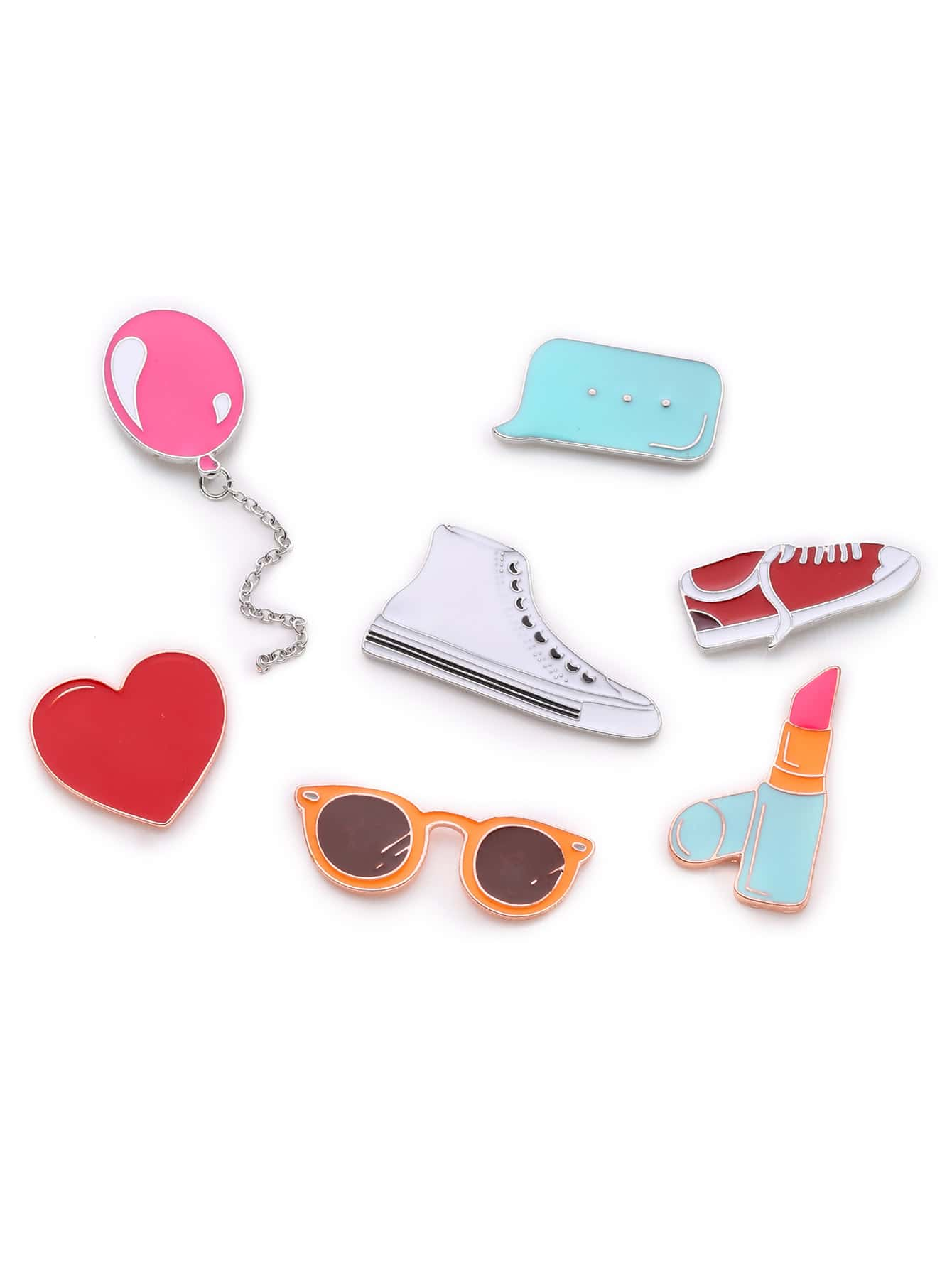 Shoes & Balloon Design Brooch Set