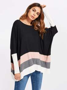 Color Block Oversized Dolman Top