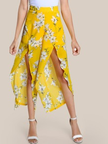 Culotte Hosen mit Überlappung