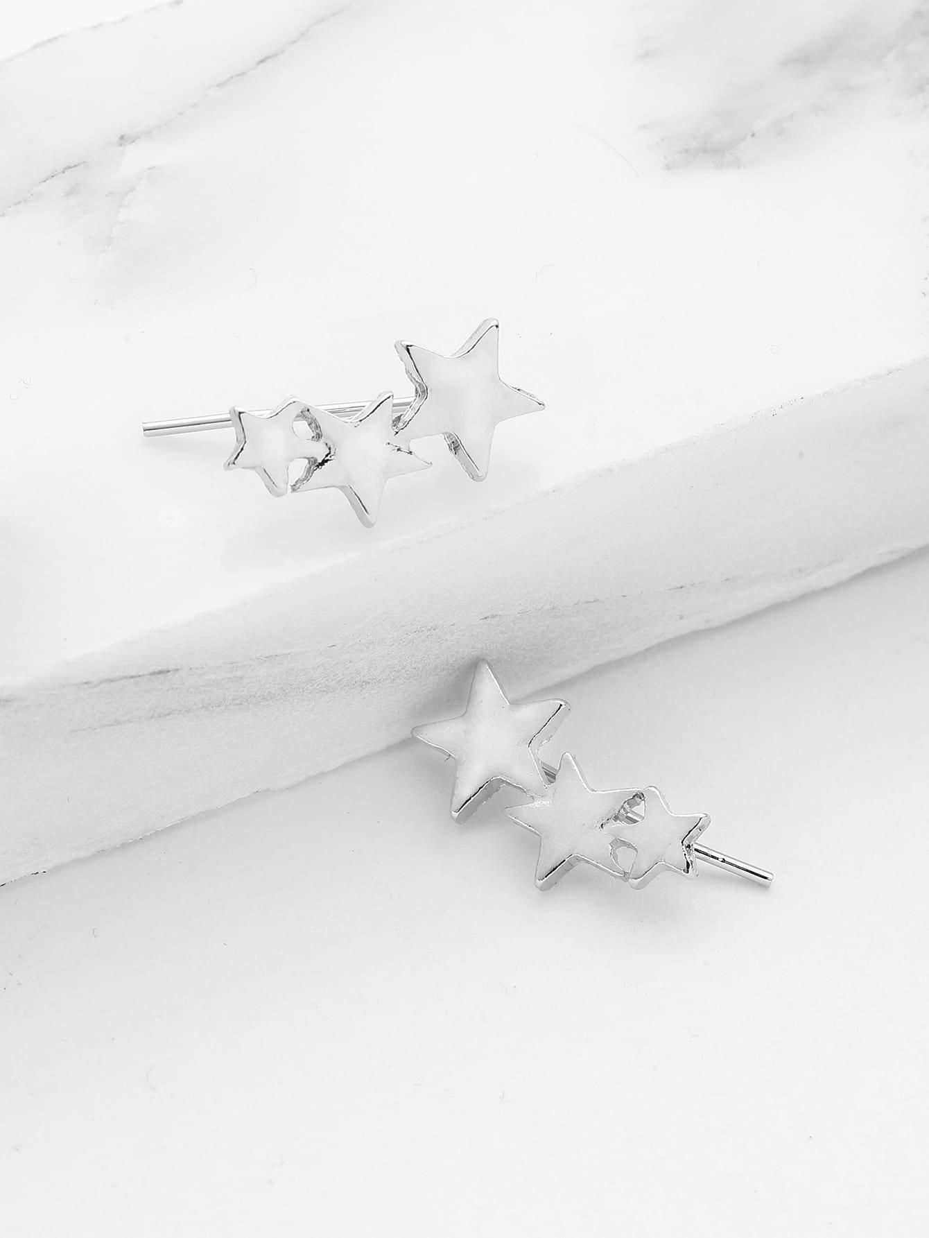 Metal Star Cute Ear Crawler