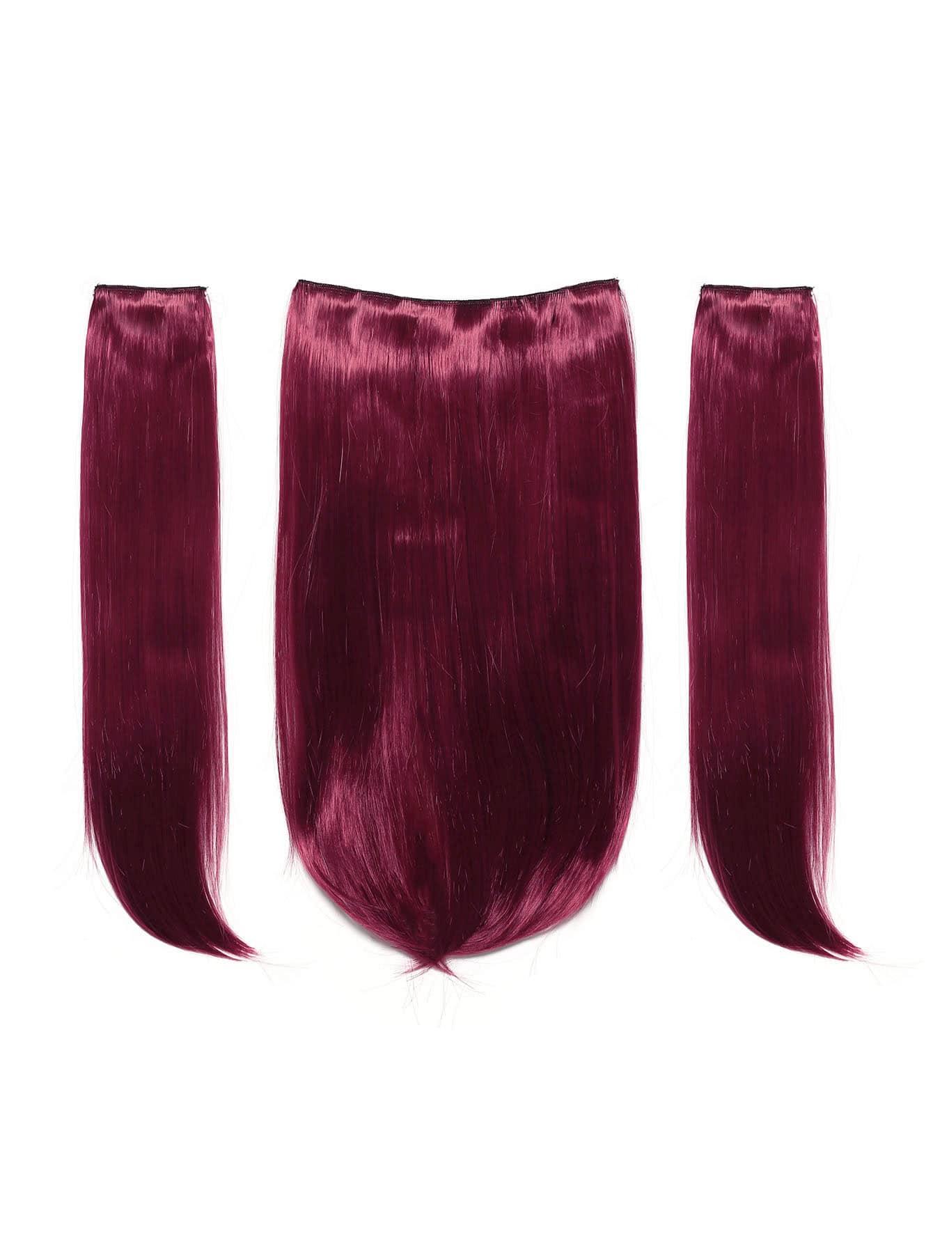 Купить Клип в прямом наращивании волос 3шт., null, SheIn