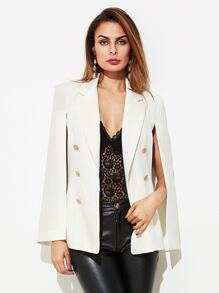 Gold Button Tailored Cape Blazer