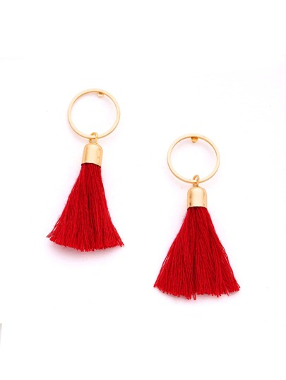 Tassel Design Cute Drop Earrings