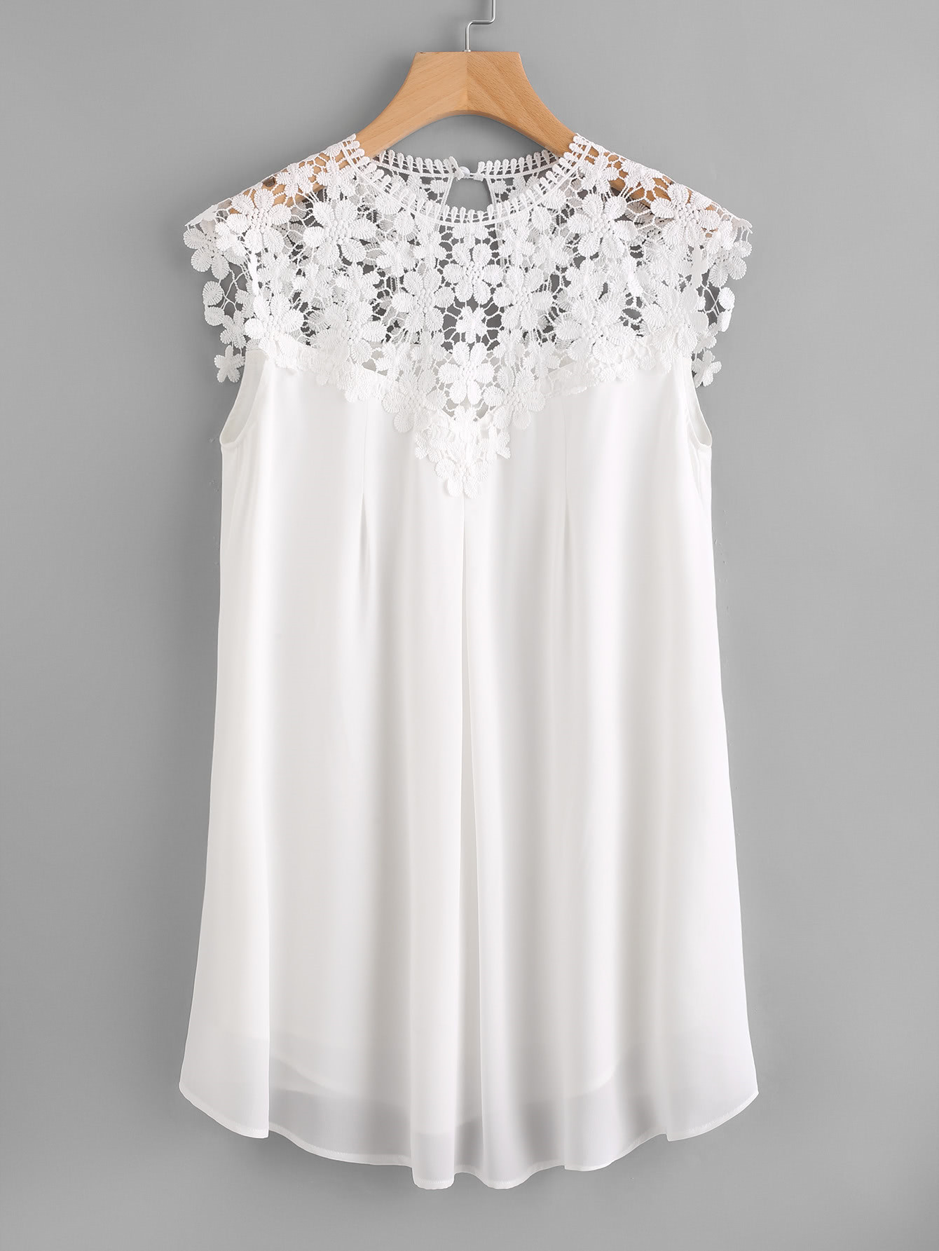 Buttoned Keyhole Lace Illusion Neck Dress american living women s illusion chantilly lace ruffled jersey dress 4 black