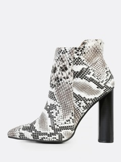 Point Toe Snake Booties SNAKE