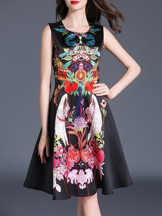 Фото Flowers Print A-Line Dress. Купить с доставкой