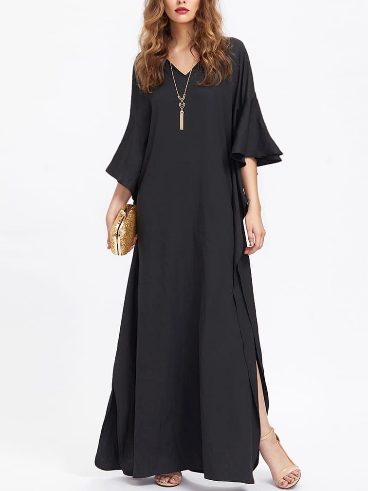 Фото Flutter Sleeve Poncho Dress. Купить с доставкой