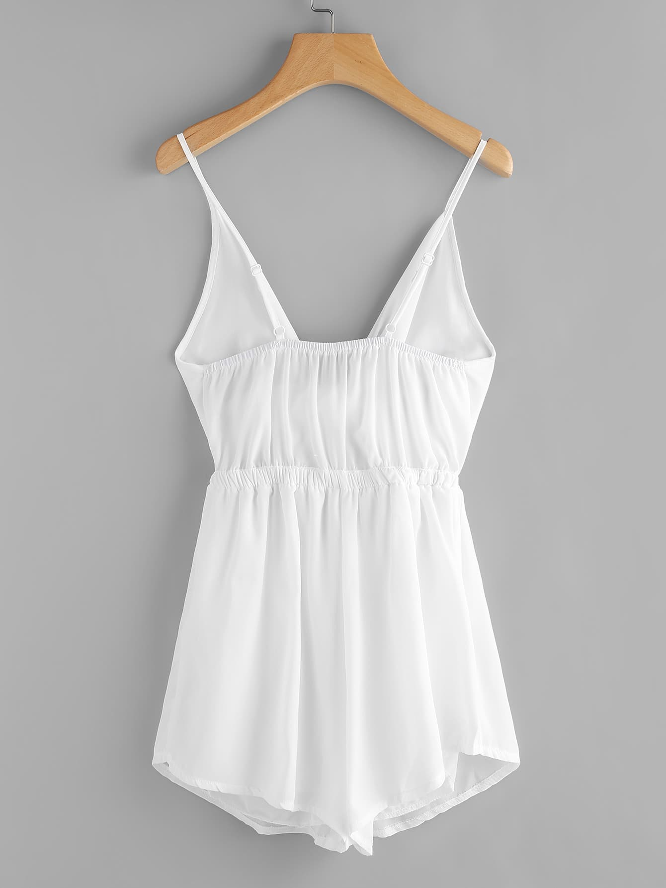 Cut Out Bow Tie Front Cami Romper Shein Sheinside
