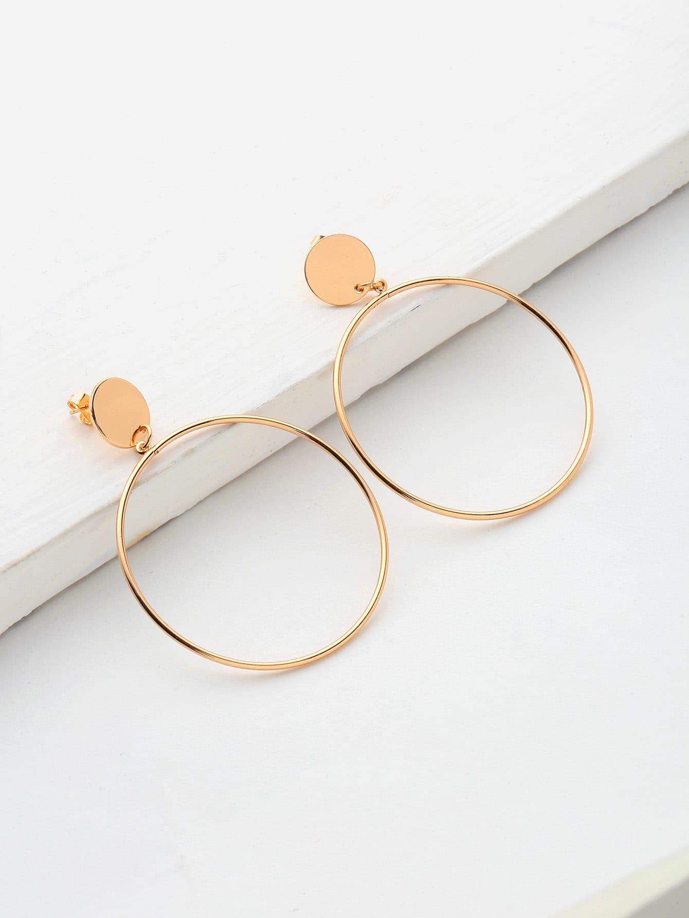 Фото Sequin Detail Hoop Earrings. Купить с доставкой