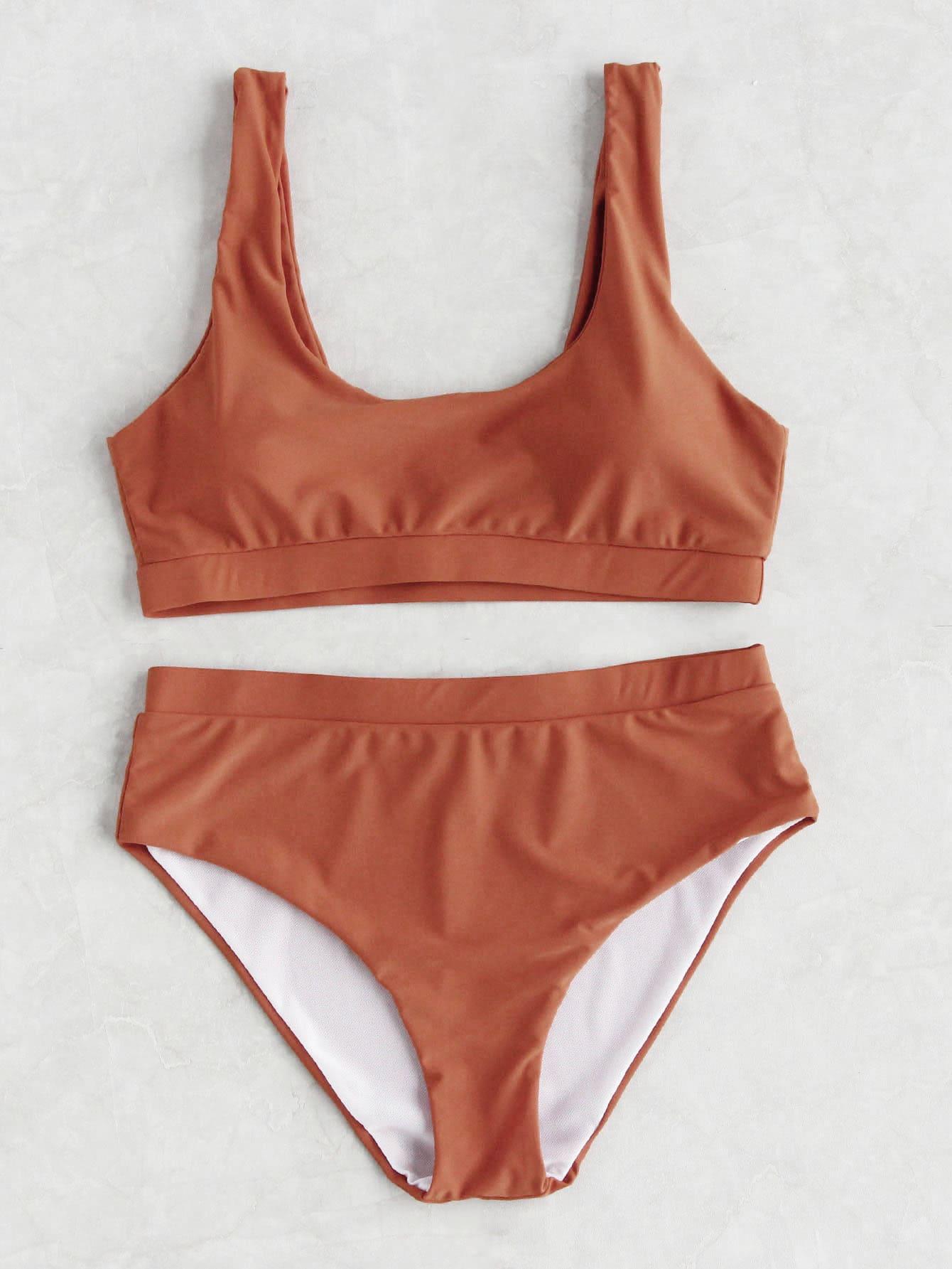 Фото Double Scoop Neck Bikini Set. Купить с доставкой