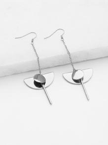 Boucles d'oreille géométrique design de paillettes et barre