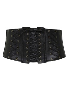 Criss Cross Detail Corset Belt