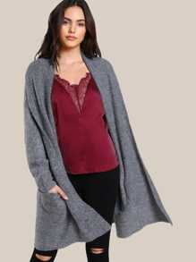 Long Sleeve Open Cardigan GREY
