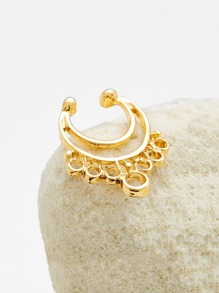 Gold Cutout Nose Ring