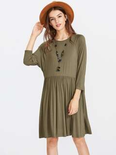 Dolman Sleeve Smock Tee Dress