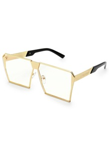 Square Lens Oversized Glasses