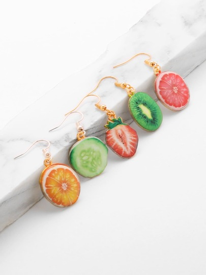Fruit Shaped Cute Earring Set